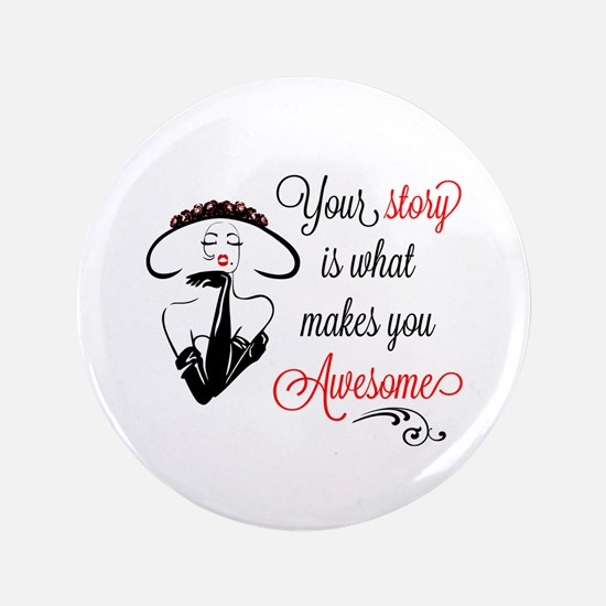 """Awesome Woman 3.5"""" Button"""