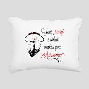Awesome Woman Rectangular Canvas Pillow