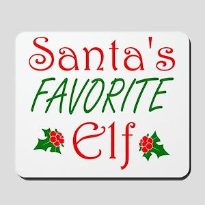Santas Favorite Elf Mousepad