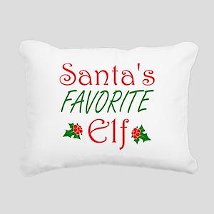Santas Favorite Elf Rectangular Canvas Pillow
