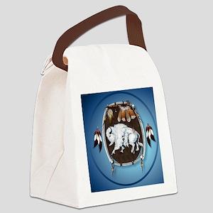 circle White Buffalo Sheild-blue2 Canvas Lunch Bag
