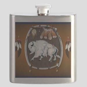 CalenderWhite Buffalo Shield 2brown Flask