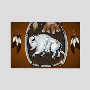 CalenderWhite Buffalo Shield 2bro Rectangle Magnet