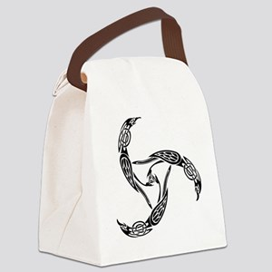 ravenknotwork-black Canvas Lunch Bag