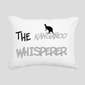 The Kangaroo Whisperer Rectangular Canvas Pillow