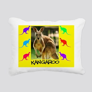 kangaroo puzzle Rectangular Canvas Pillow