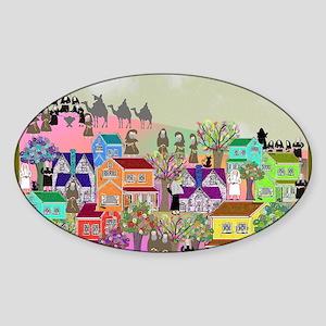 nun puzzle 4 Sticker (Oval)