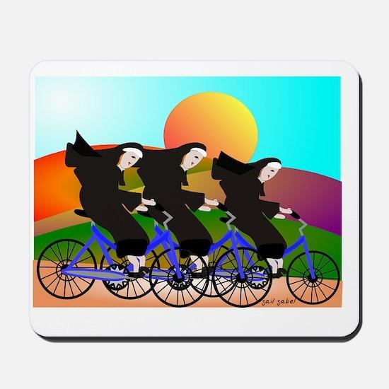 Nuns on Bikes FINAL Mousepad