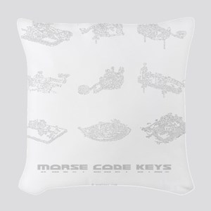 straight keys - 3Q copy Woven Throw Pillow