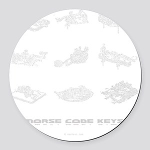 straight keys - 3Q copy Round Car Magnet