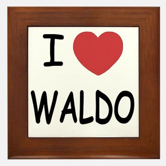WALDO Framed Tile