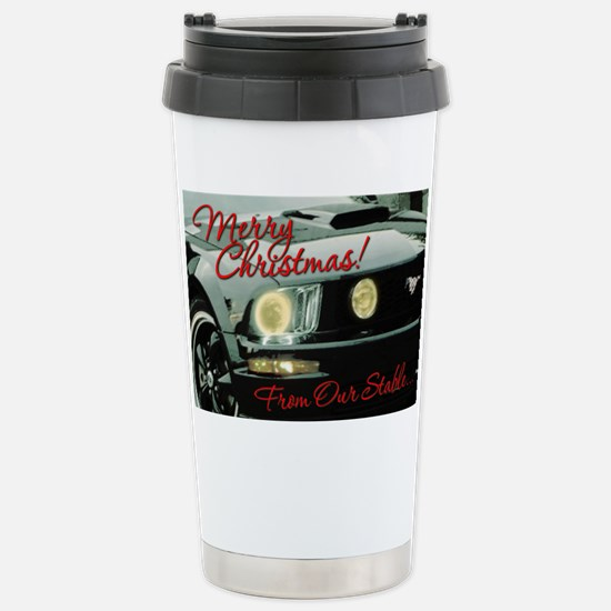 Xmas-merry-outMustang2 Stainless Steel Travel Mug