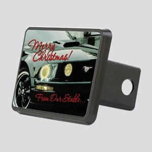 Xmas-merry-outMustang2 Rectangular Hitch Cover