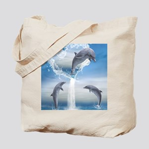 dolphins_ipad Tote Bag