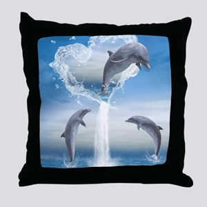dolphins_ipad_2 Throw Pillow