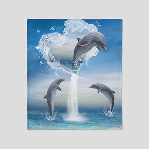 dolphins_ipad_2 Throw Blanket