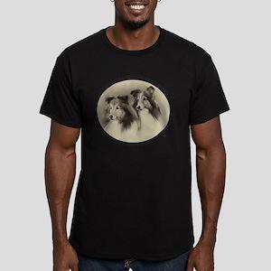 Vintage Angels Men's Fitted T-Shirt (dark)