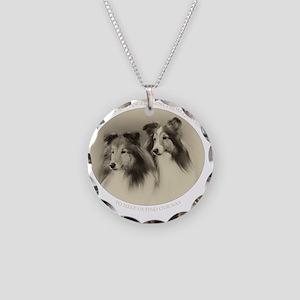 Vintage Angels Dark Necklace Circle Charm