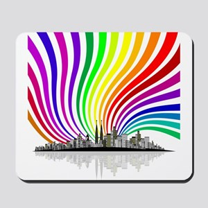 Rainbow City Mousepad