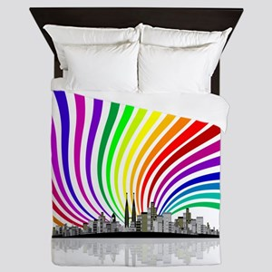 Rainbow City Queen Duvet