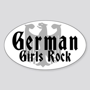 German Girls Rock Oval Sticker