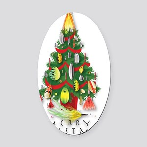ChristmasTree_Spinners Oval Car Magnet