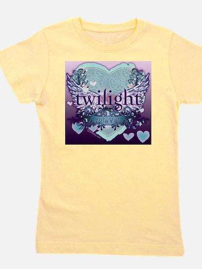 2020 twilight forever aqua heart with p Girl's Tee