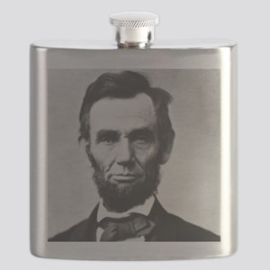 abe lincoln puzzle Flask