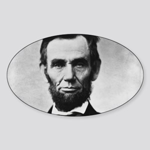 abe lincoln puzzle Sticker (Oval)