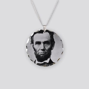 abe lincoln puzzle Necklace Circle Charm