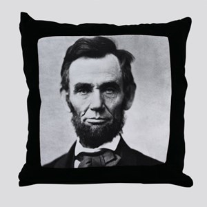 abe lincoln puzzle Throw Pillow