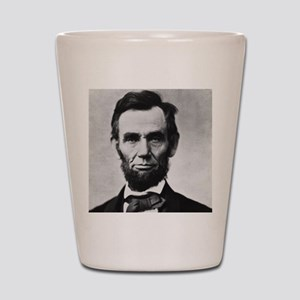 abe lincoln puzzle Shot Glass