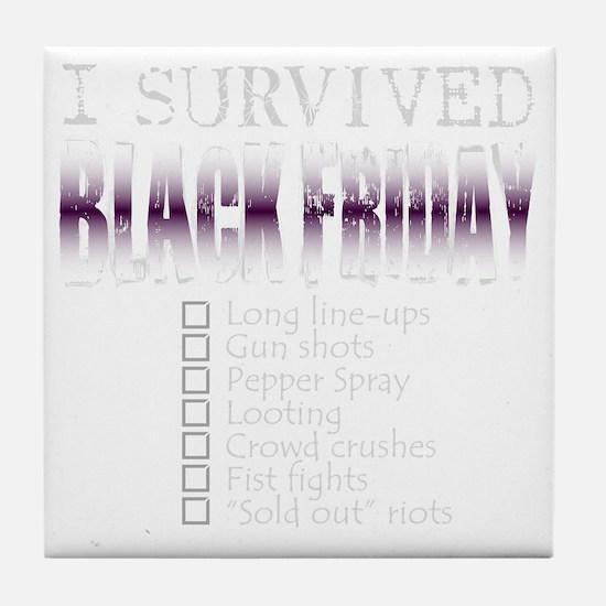BlackFriday_dark Tile Coaster