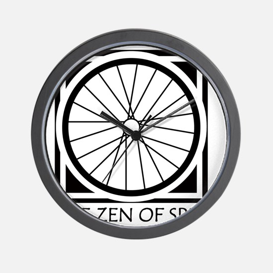 zenSpinBlack4Whitet Wall Clock