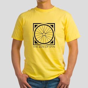 zenSpinBlack4Whitet Yellow T-Shirt