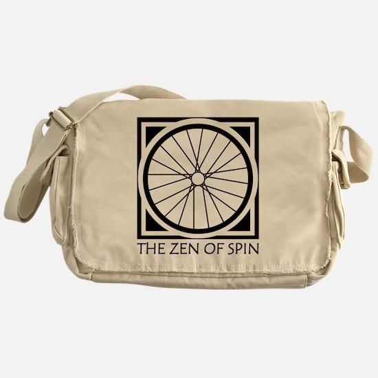 zenSpinBlack4Whitet Messenger Bag
