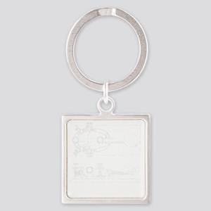 straight key 2-d copy Square Keychain