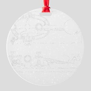 straight key 2-d copy Round Ornament
