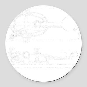 straight key 2-d copy Round Car Magnet