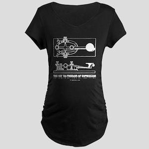 straight key 2-d copy Maternity Dark T-Shirt