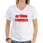 Go Thunk Yourself! Women's V-Neck T-Shirt