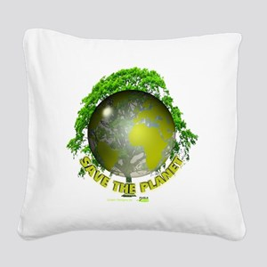 tshirt_whiteback_savetheplane Square Canvas Pillow