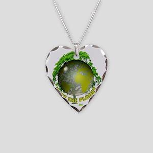 tshirt_whiteback_savetheplane Necklace Heart Charm