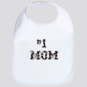 #1 Mom floral Bib