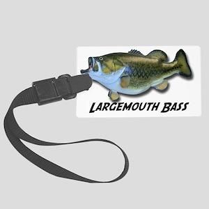 Largemouth Bass Large Luggage Tag