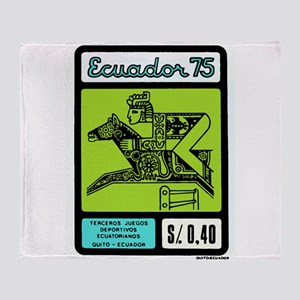 1975 Ecuador Inca Steeplechase Postage Stamp Throw