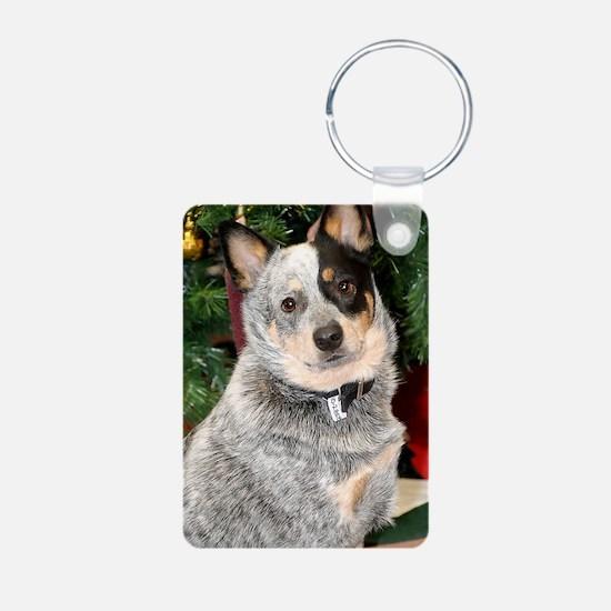 cattle-dog-photo Keychains