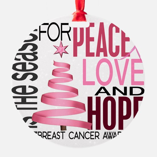 - Breast Cancer Christmas 1 Ornament