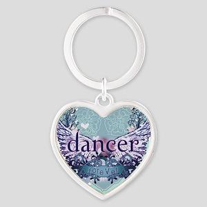 Dancer Forever by DanceShirts.com Heart Keychain