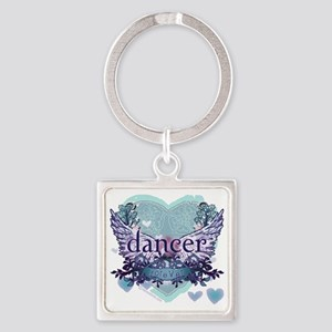 Dancer Forever by DanceShirts.com Square Keychain
